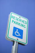 image of reserved parking sign