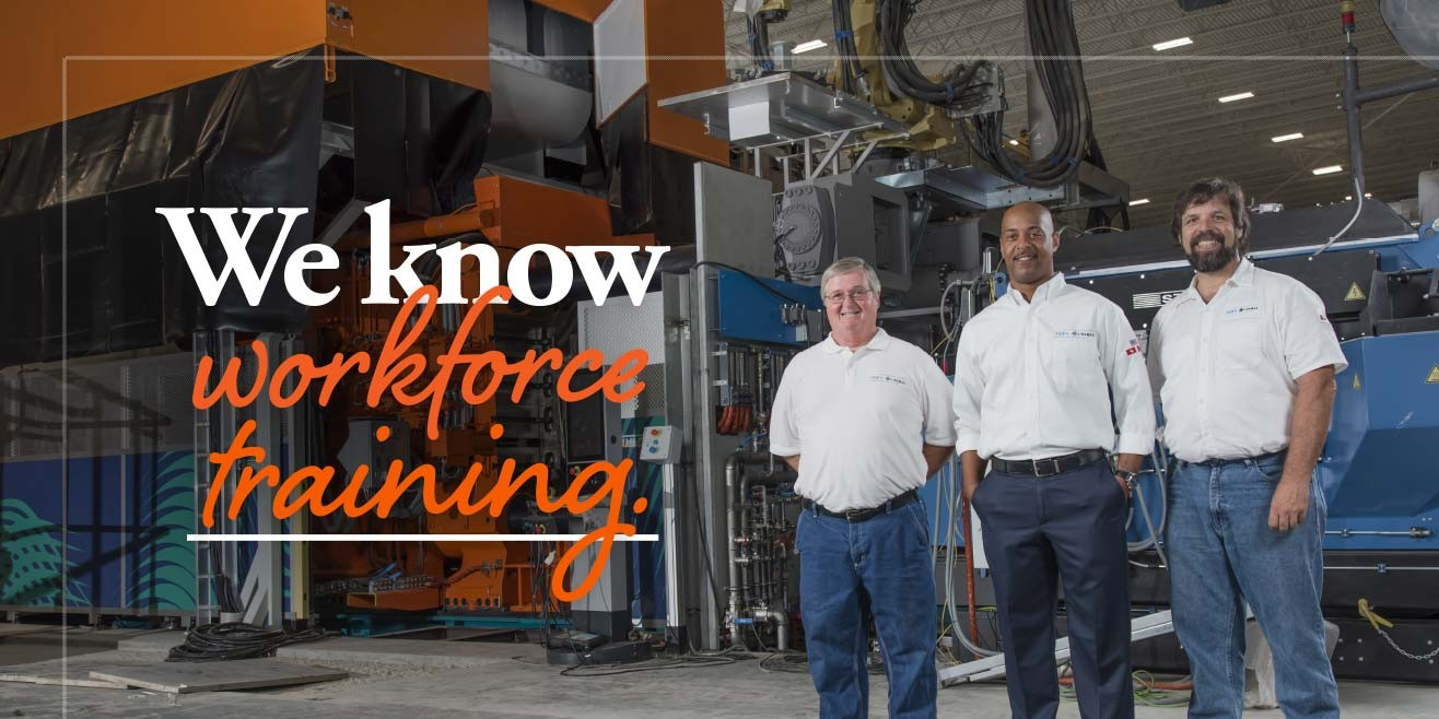 "Caption: ""We know workforce training"" Continuing Education students"
