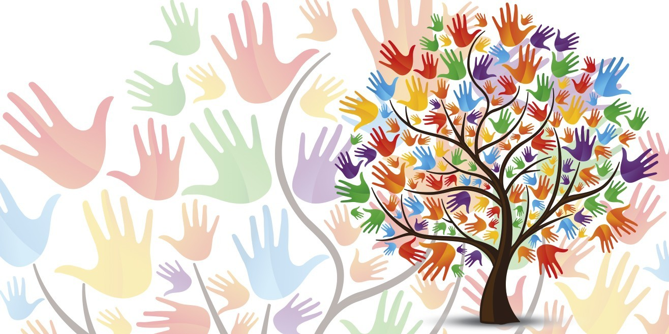 Blue Ridge Community College Discover Diversity Week tree colorful hands image